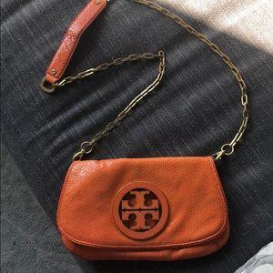 Tory Burch orange crossbody purse